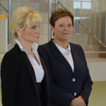 Dyrektor szkoły, pani Barbara Ciecierska i wicedyrektor, pani Jolanta Pluta