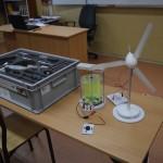 Zestaw turbin - pozioma i pionowa