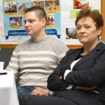 Pan Jacek Nykiel i wicedyrektor, pani Jolanta Pluta